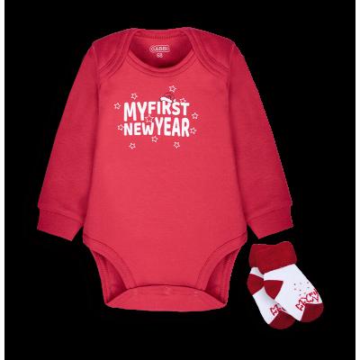 Купить Боди+носки Новый Год (красный) от Бренда Габби