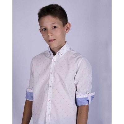 Купить Рубашка Голубой Квадратик от Бренда Bogi
