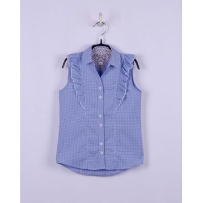 Блуза-безрукавка Голубая