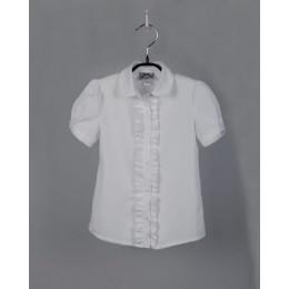 Блуза Белая Короткий