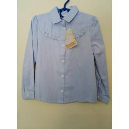 Блуза Голубая Рюша