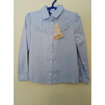 Купить Блуза Голубая Рюша от Бренда Bogi