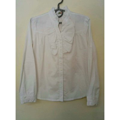 Блузка Белая Жабо