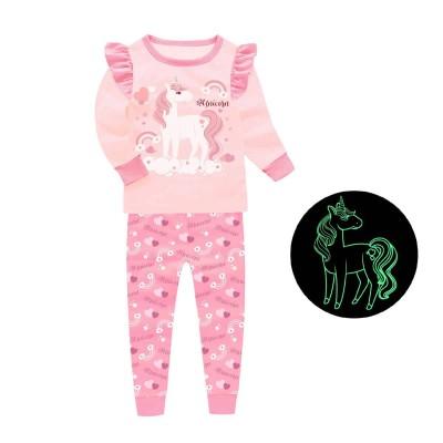 Купить Пижама для девочки Единорог Пудровая от Бренда Barbeliya