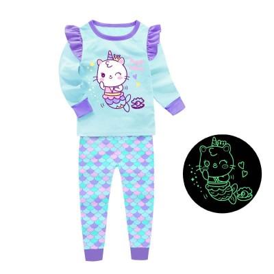 Купить Пижама для девочки Кис Бирюзовая от Бренда Barbeliya