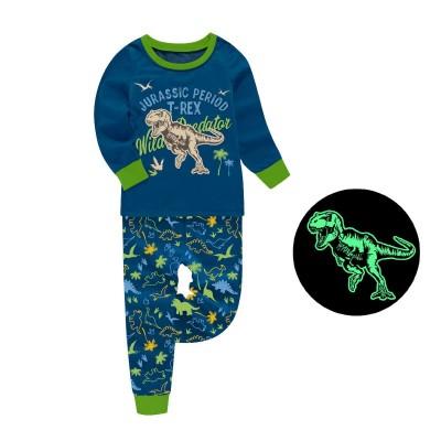 Купить Пижама для мальчика Юрский период Индиго от Бренда Barbeliya