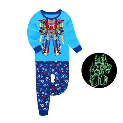 Купить Пижама для мальчика Трансформер Бирюзовая от Бренда Barbeliya