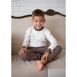 Пижама Барни Молочный с коричневым