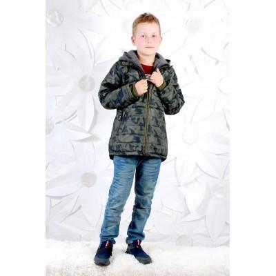 Купить Парка демисезонная Милитари для мальчика от Бренда Grace