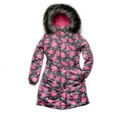 Купить Пальто зимнее Розы от Бренда Модный Карапуз