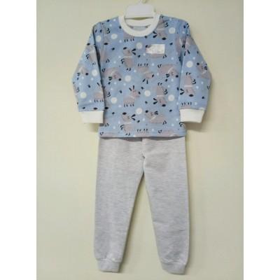 Купить Пижама Тёплая Голубая с серым от Бренда Кена