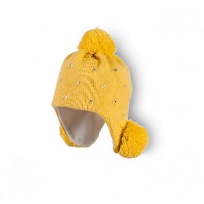Шапка для девочки Жёлтая