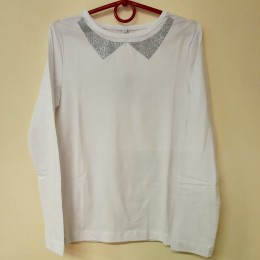 Блуза Белая Серебро